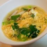 小松菜としめじの卵スープ