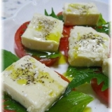 塩麹豆腐でカプレーゼ!モッツァレラチーズ風