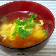 卵とにんじんの中華風スープ