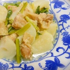圧力鍋で簡単☆かぶと鶏もも肉の塩麹煮☆