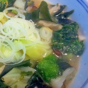 野菜とわかめのお味噌汁