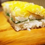 しゃきしゃき美味しい、とうもろこしの押し寿司
