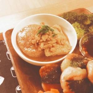大根と冷凍豆腐の味噌煮【110kcal脂3.1g】