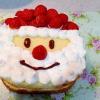 クリスマスに☆サンタクロースケーキ