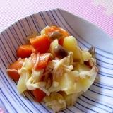 秋味♪レンジで簡単♪じゃがいもときのこの炒め煮