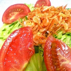 トマトと桜えびのサラダ