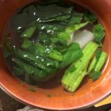 離乳食 ほうれん草と大根の味噌汁