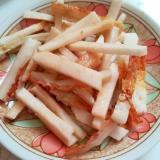 おつまみ☆長いもとちくわの和え物☆ゆず胡椒風味