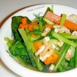 めんつゆで★小松菜と油揚げの煮浸し
