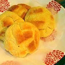 市販パンがパンケーキミックスでメロンパンに変身!?