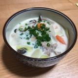 野菜たっぷり!生姜風味の豆乳豚汁