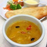 お豆とパプリカのカレースープ