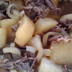 冬瓜と牛薄切りでの煮物