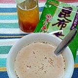 昆布茶で☆ジンジャーきなこ牛乳♪