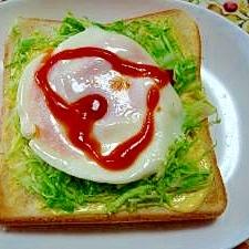 朝は元気良くスタート☆簡単エッグトースト