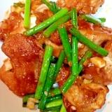 【糖質制限】ジューシー♪鶏肉とにんにくの芽炒め