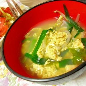 中華風 ニラ玉スープ