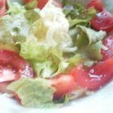 トマトサニーレタスキャベツのフレッシュサラダ