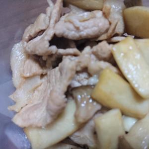 簡単副菜!えりんぎと豚肉のバター醤油