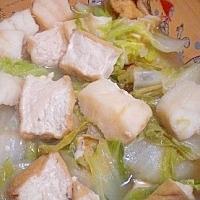 「とろカレイと厚揚げ、白菜の煮物」    ♪♪
