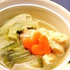 白菜と鶏つみれのコンソメ煮