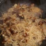 豚肉とえのきの炒め物