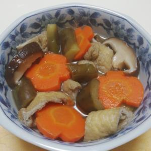 野菜の煮浸し油揚げ入り