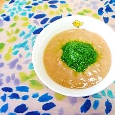小松菜のきな粉ミルクスープ❤(離乳食 初期~中期)