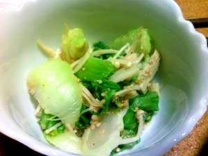 レンジで簡単★チンゲン菜のゴマナムル