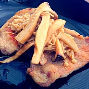 豚肉ソテー♡きのこのマヨソース