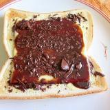 Wチョコとチーズのトースト