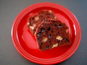 甘さ控えめ&簡単☆チョコバナナのパウンドケーキ