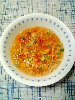☆えのき玉子サンラースープ☆