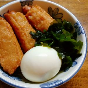 ウインナー巻とゆで卵とワカメの煮物