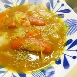 カレーの残りで★キャベツ・ウインナーのカレースープ