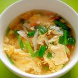 大根にんじんニラの卵スープ
