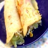 チーズたっぷり♪ミックスサラダとベーコンのブリトー