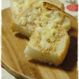 ピーナッツバターチーズトースト(Skippy)