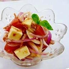 紫玉ねぎとトマトで★健康サラダ