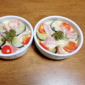 ココットカマン 茄子とトマトとベーコン