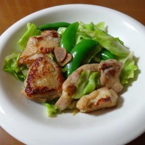 鶏もも肉のにんにく醤油炒め