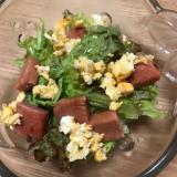 スパムと炒り卵のサラダ
