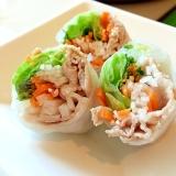 ヘルシー✤豚しゃぶサラダの生春巻き✤