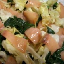 ほうれん草とスモークサーモンのサラダ