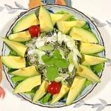 アスパラ、セロリ、リーフレタス のサラダ