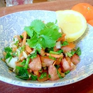 パセリのサラダ、レバノンの香りタブレもどき。