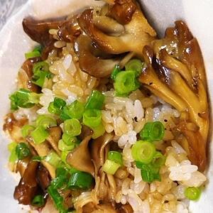 簡単うまい、舞茸醤油ご飯