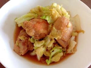 にんにくしょうゆで☆鶏肉とキャベツの炒め煮