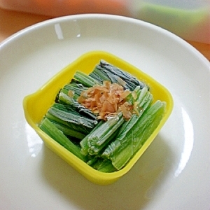 夏のお弁当に☆保冷材代わりの、ほうれん草のおひたし