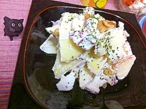 りんごと胡桃のさわやか塩麹カッテージチーズサラダ